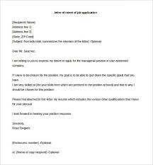 Best Solutions Of Letter Of Intent Job Application Example For