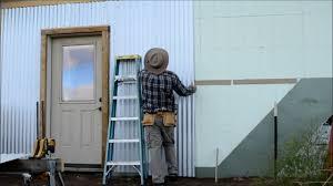 diy corrugated steel siding install on icf part 4 off grid homestead
