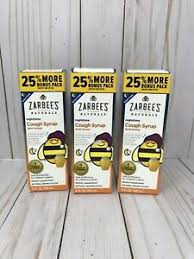 Zarbees Naturals Nighttime Cough Syrup Dark Honey Lot Of 3