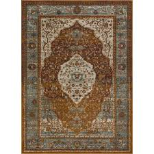 well woven lau molly multi 8 ft x 10 ft modern vintage distressed medallion