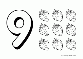 This free printable features tracing and coloring worksheets in vertical orientation. Number 9 Coloring Page Coloring Home