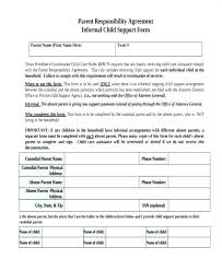 Child Care Contract Template Child Support Agreement