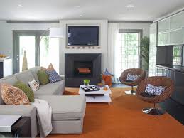 Orange Living Room Design Brown Gray And Orange Living Room Yes Yes Go