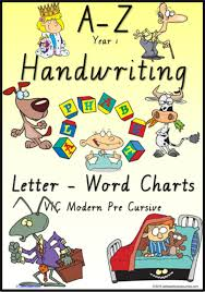 Year 1 Handwriting Management Letter Word Colour Charts Vic Modern Precursive