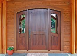 ... Doors, Outside Doors Entry Doors With Sidelights Gray Floor Plants Pot  And Wooden Wall With ...