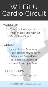 17 best ideas about used wii just dance song just the wii fit u cardio circuit workout i should start using wii fit