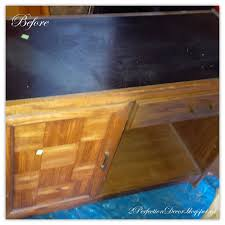 office furniture desk vintage chocolate varnished. How To Revamp This Vintage Desk Into A Kitchen Island By 2Perfection Decor Featured On @ Office Furniture Chocolate Varnished