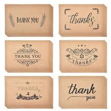 Thank You Cards Notes Kraft Paper Bulk Thank U Greeting Card Set For Wedding Graduation Bridal Party Anniversary Birthday Birthday Cards Free Online