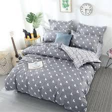 popular cartoon dog bedding sets animal blue white children full queen king size soft duvet cover