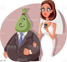 Gold Digger Heiraten Sugar Daddy Vektor Cartoon Stock Vektor Art und mehr  Bilder von Hochzeit - iStock