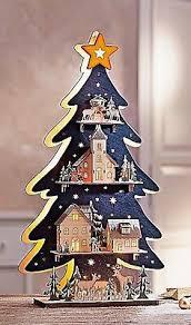 Led Tannen Baum Winterwald 3d Weihnachten Deko Holz