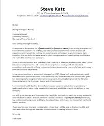 Cover Letter Examples Manager Contact It Management Sample Sales