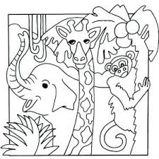 Animal Coloring Pages Preschool Safari Animals Great About Remodel