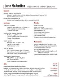 resume chief baker resume