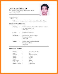 Resume Resume Samples Format Sample For Jobplication Fred