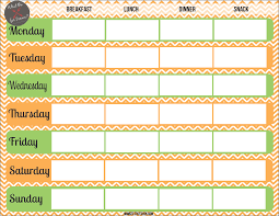 Snacking Made Simple Weekly Menu Plan Printable