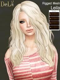 Second Life Marketplace - =DeLa*= Mesh Hair \u0026quot;Leila\u0026quot; Browns - AD-hair-Leila-Brown