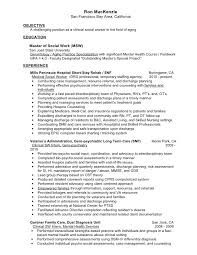 Social Work Resume Objective Examples Examples Of Resumes