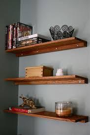 oak shelves diy shelves