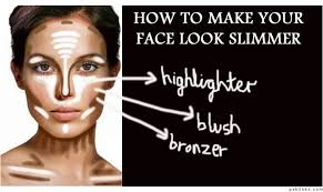 you can use makeup to look slimmer so if you have a round face don 39