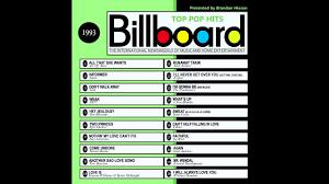 Pop Charts 1993 Billboard Top Pop Hits 1993