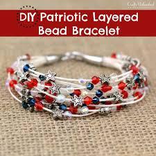 bead bracelet diy patriotic themed