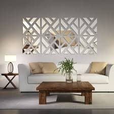 long living room wall decorating ideas. mirrored chevron print wall decoration long living room decorating ideas