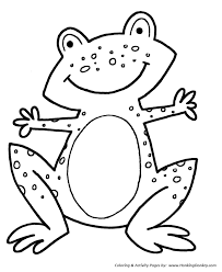simple shapes coloring pages speckled frog