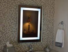 front lighted led bathroom vanity mirror 20 x 28 rectangular wall mounted