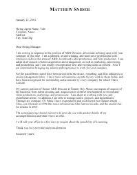 Cover Letter Sample Company Adriangatton Com