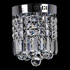 decor ideas contemporary small crystal chandeliers flush mount ceiling lamp fixture 4 light crystal chandelier chrome