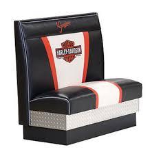 Harley Davidson Nostalgic Bar & Shield Diner Booth FiftiesStore