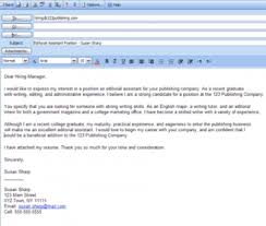 Emailing Cover Letter And Resume Best Email Cover Letter With Resume