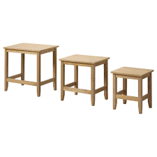 ikea skoghall nest of tables set of 3 can be pushed together to save space