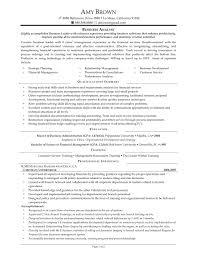 Business Analyst Resume Berathen Com