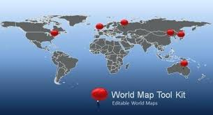 World Map Powerpoint Template Free Silver Templates Backgrounds For