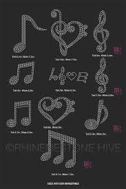 Cricut Design Space Rhinestone Template Musical Notes Rhinestone Template Svg Eps Studio3 Png