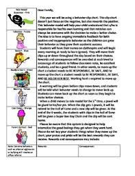 Chart Moves Behavior Behavior Clip Chart Parent Letter By Mumpers Mighty Minds Tpt