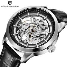 Pagani Design Watch Pagani Design Brand Hot Sale 2019 Skeleton Hollow Leather Mens Wrist Watches Luxury Mechanical Male Clock New Relogio Masculino