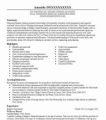 Resume Busser Busser Resume Sample Awesome Busser Resume