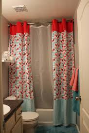 split shower curtain ideas. Split And Tall Shower Curtain. Cute For Kids Bathroom! Curtain Ideas N
