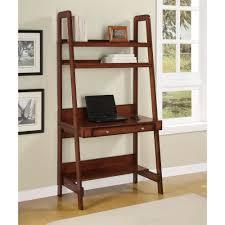 Bookshelf, Inspiring Ladder Desk Ikea Ikea Galant Desk Brown Book Shelves  With Books And Laptop