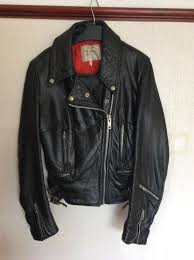 las used vintage leather motorcycle jacket cafe racer style