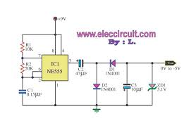 555 dc boost converter circuits 9v battery changed to 5v