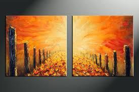 wall arts painting extraordinary wall art paintings on 2 piece orange modern oil huge canvas