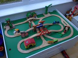 this wooden train set will drive you round the bend literally amazingly managed to include plenty of bridges twists and turns and a few brio buildings
