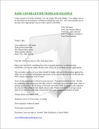 Elements Of A Good Cover Letter Gallery of Basic Cover Letter 87