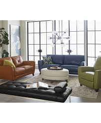 Myia Leather Sofa Collection Created for Macy s Furniture Macy s