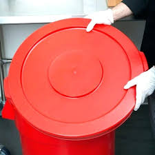 red metal trash can with lid tips kitchen small size of 5 garbage