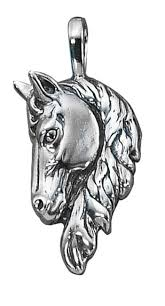 auntie s treasures sterling silver 30 1 2mm box chain 3d large frontal horse head pendant necklace com